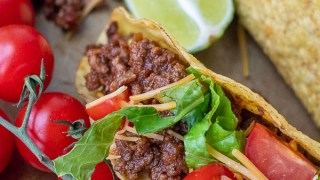 Sweet and Spicy Tacos w/ Cilantro Lime Sour Cream
