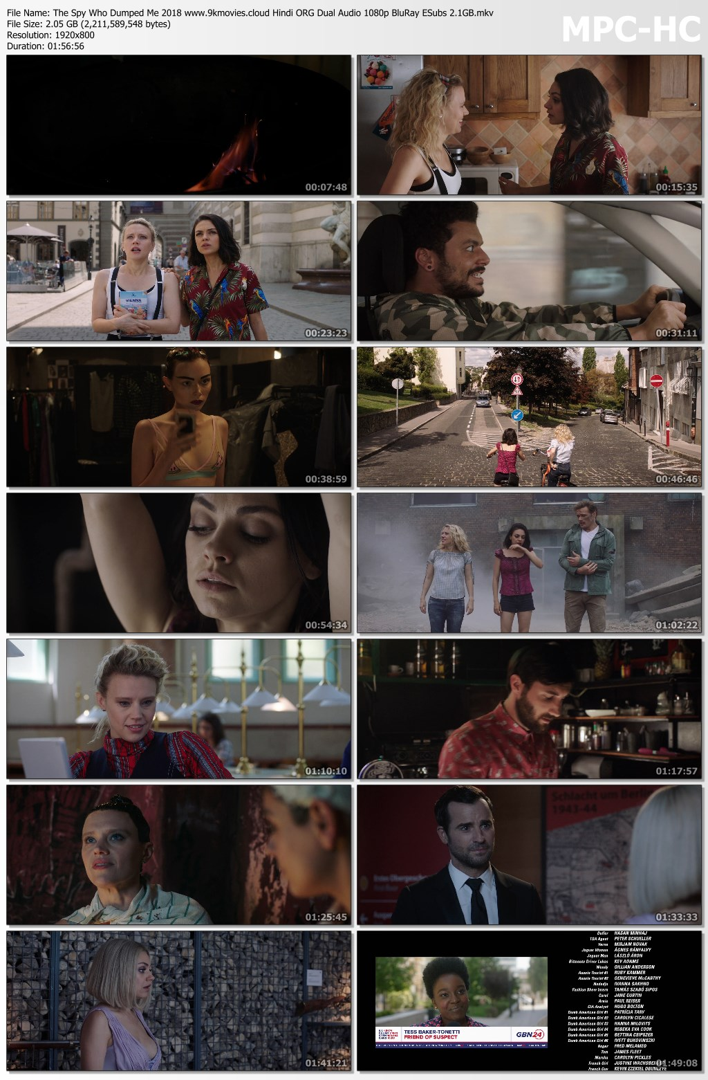 Download The Spy Who Dumped Me 2018 Hindi ORG Dual Audio 480p BluRay ESubs 400MB