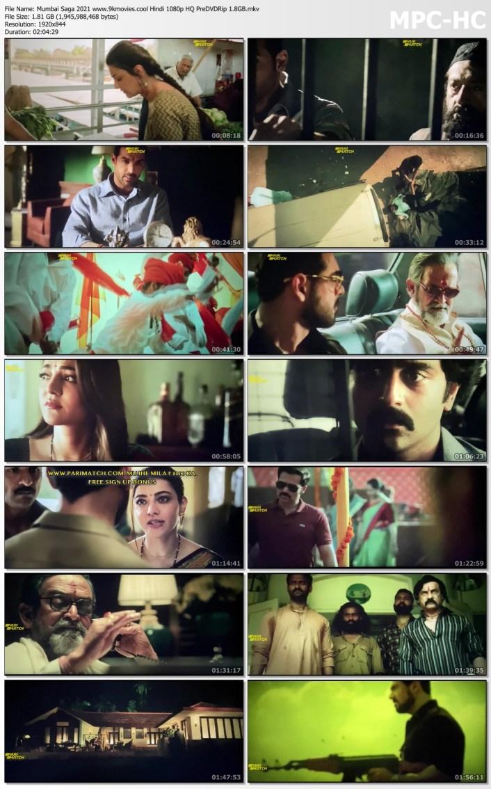 Mumbai Saga 2021 Hindi 1080p HQ PreDVDRip 1.82GB Download
