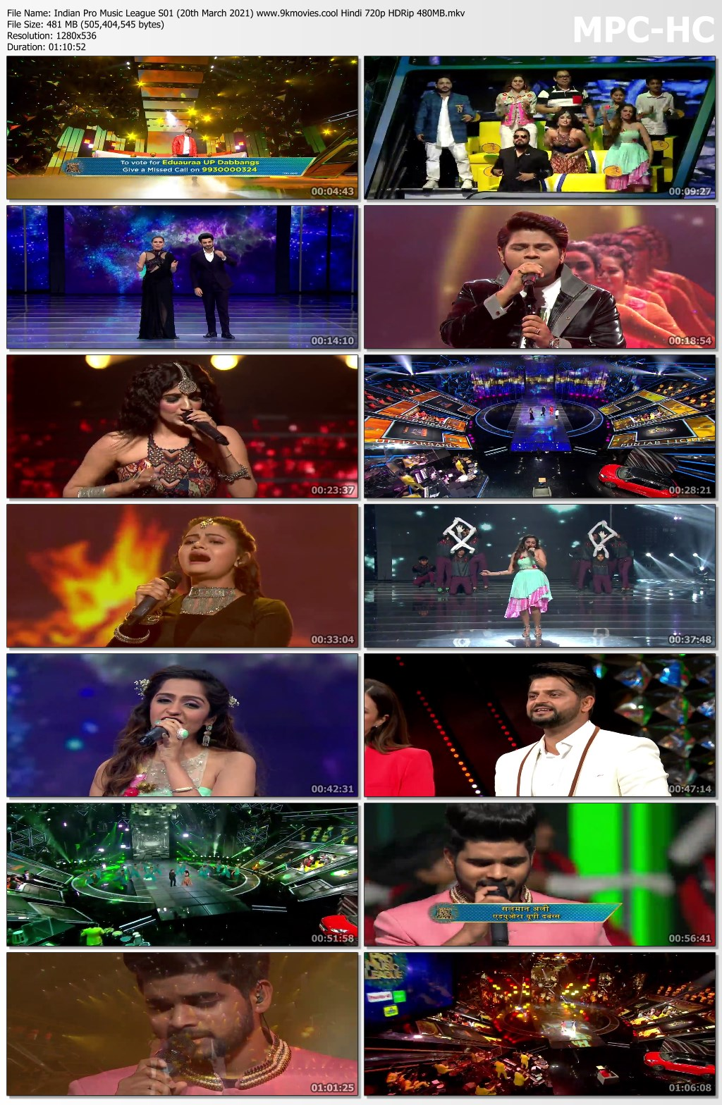 Download Indian Pro Music League S01 (20th March 2021) Hindi 720p HDRip 480MB