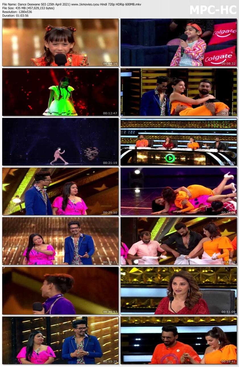 Download Dance Deewane S03 (25th April 2021) Hindi 720p HDRip 450MB