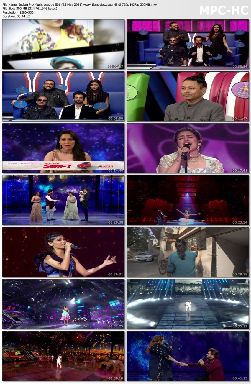 Download Indian Pro Music League S01 (23 May 2021) Hindi 720p HDRip 300MB