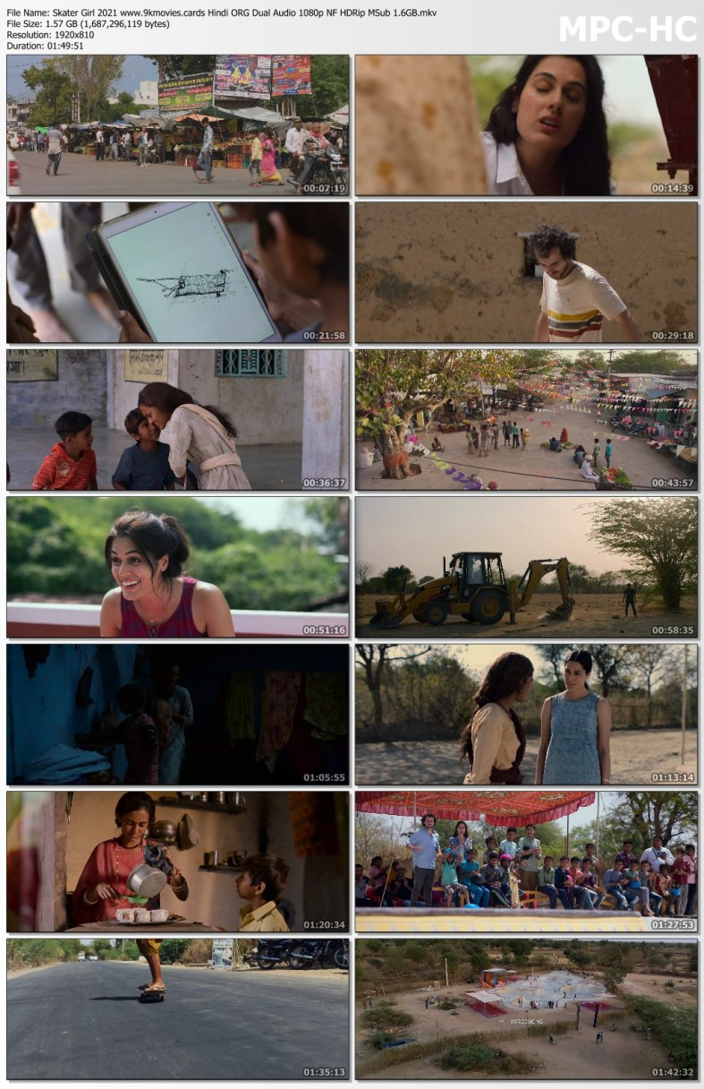 Download Skater Girl 2021 Hindi ORG Dual Audio 480p NF HDRip MSub 400MB