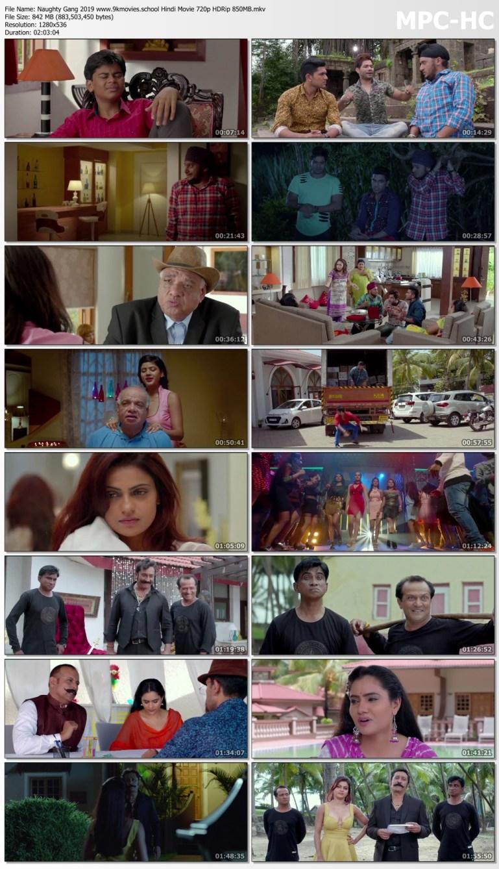 Download Naughty Gang 2019 Hindi Movie 720p HDRip 850MB