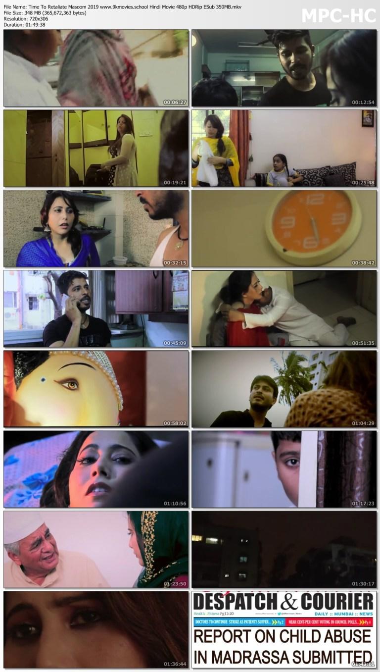 Download Time To Retaliate Masoom 2019 Hindi Movie 480p HDRip ESub 350MB
