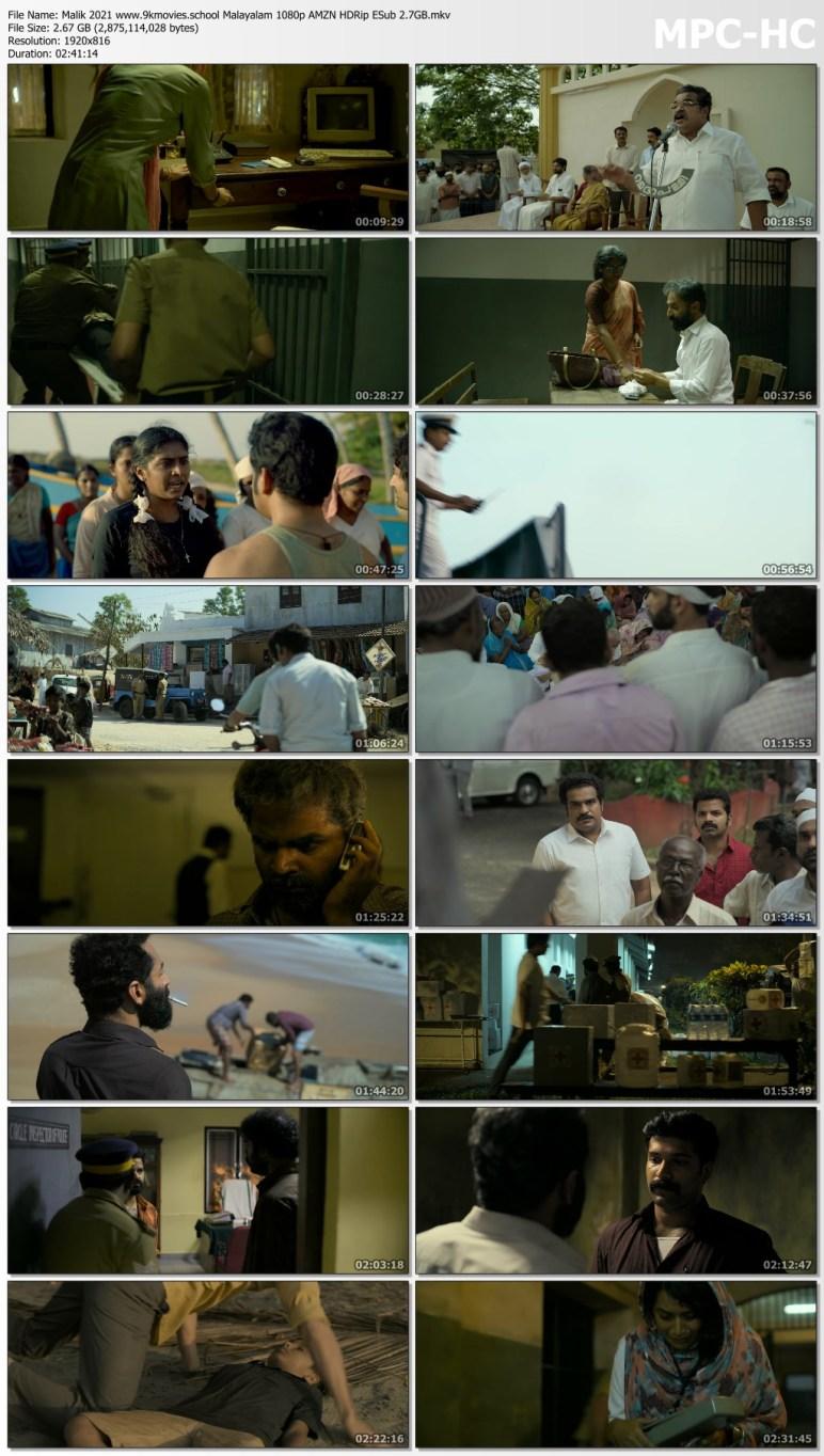 Download Malik 2021 Malayalam 1080p AMZN HDRip ESub 2.7GB
