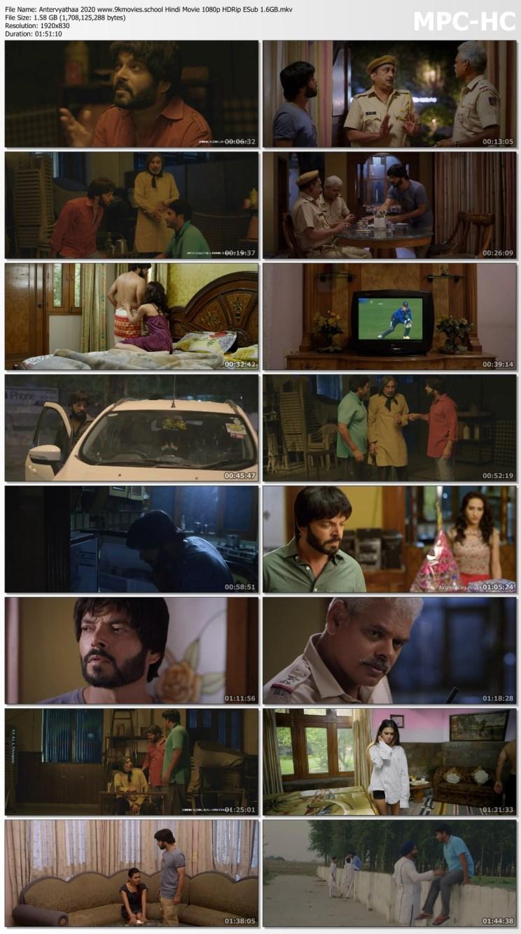 Download Antervyathaa 2020 Hindi Movie 1080p HDRip ESub 1.6GB