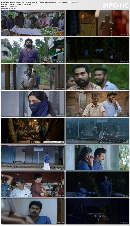 Download Anugraheethan Antony 2021 Malayalam 720p HDRip ESub 1.1GB