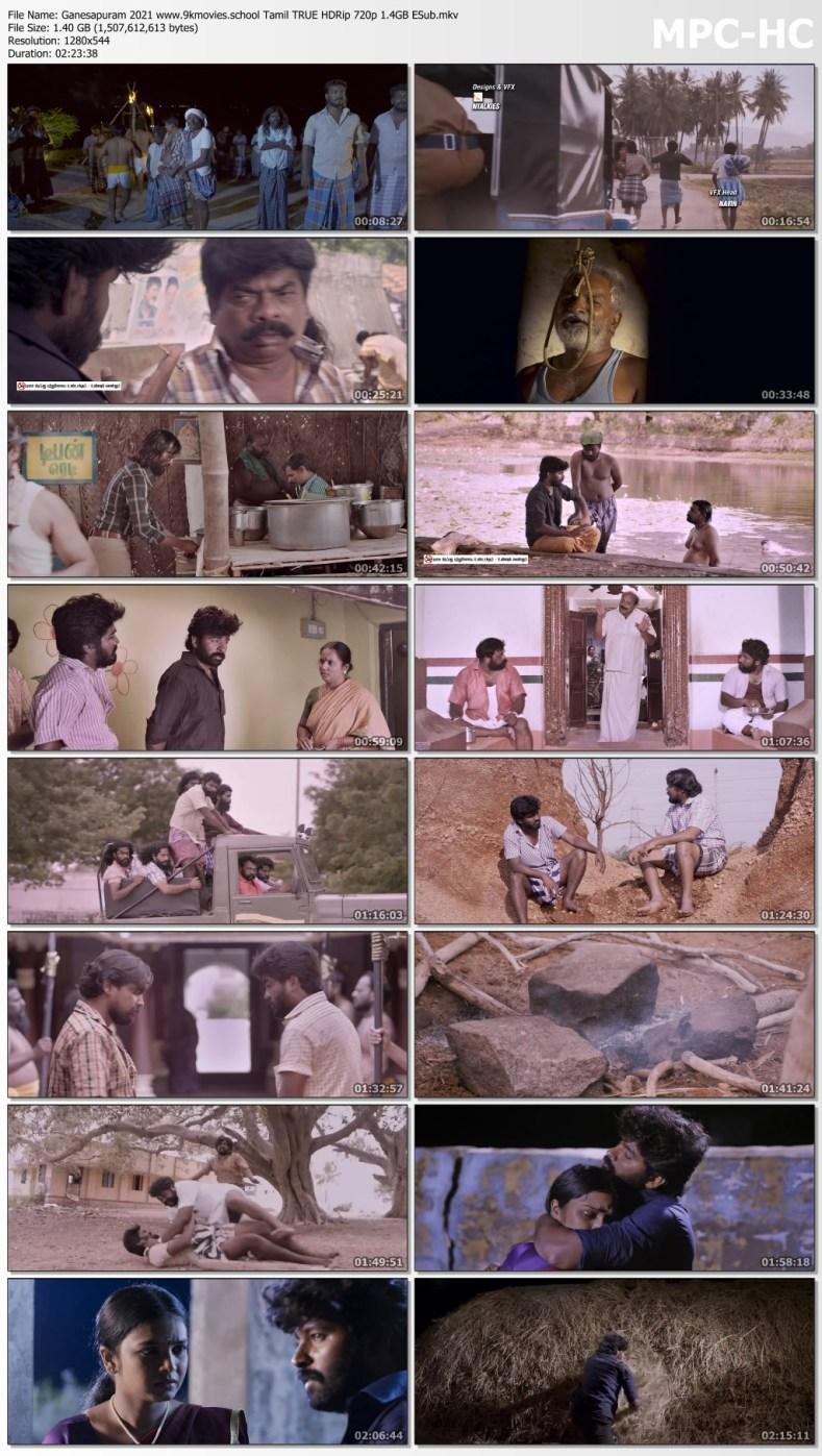 Download Ganesapuram 2021 Tamil TRUE HDRip 720p 1.4GB ESub