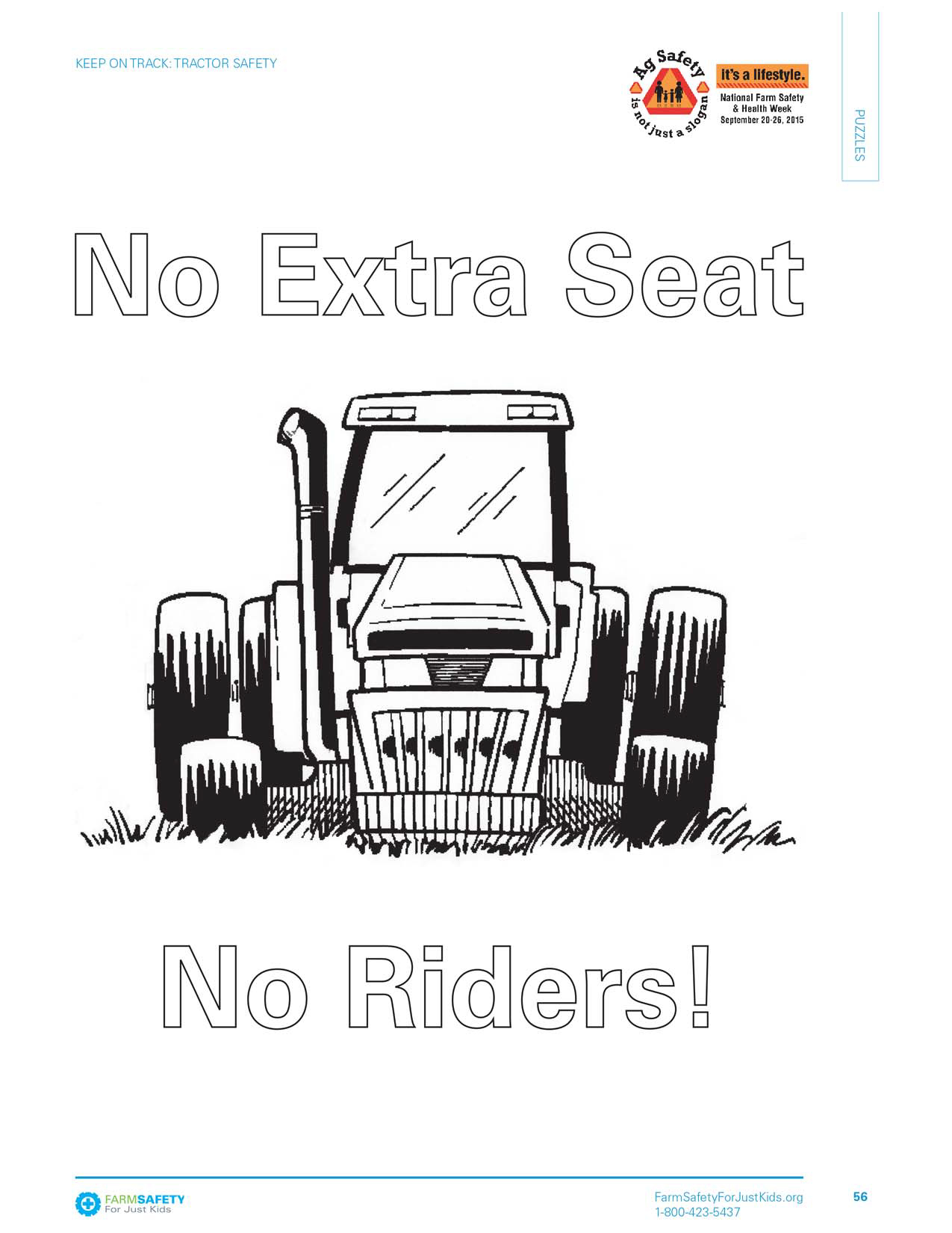 Farm Safety Coloring Pages
