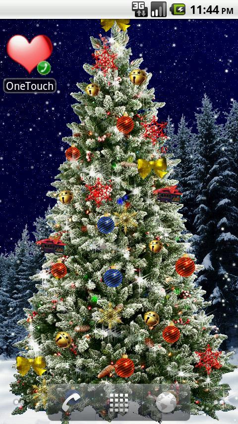 Christmas Tree Live Wallpaper Weihnachten Auch Auf