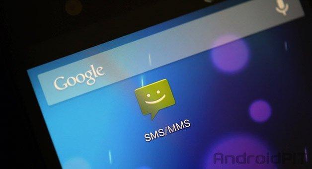 смс приложение домашний экран