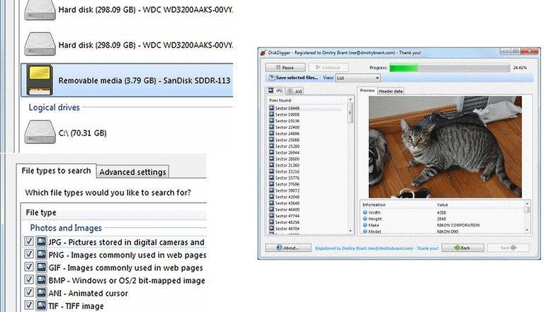 microsd reparieren diskdigger
