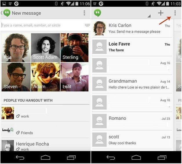 androidpit Hangouts удалить сообщения 1