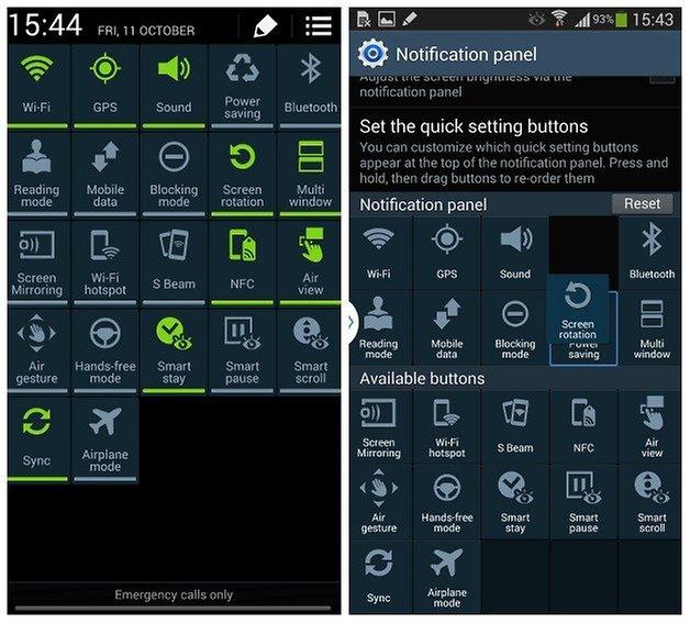 androidpit адаптировать быстрые настройки
