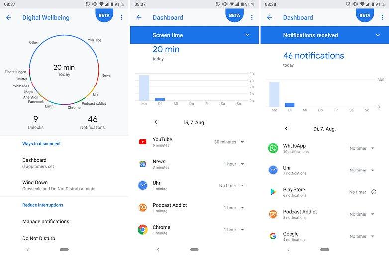 Приложение Google для хорошего самочувствия androidpit 01