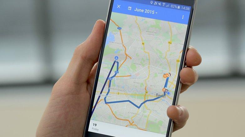 временная шкала Google Maps для androidpit 2