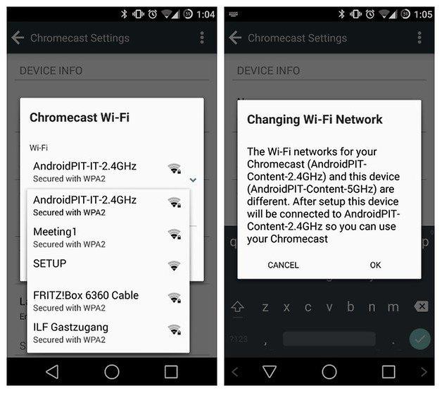 AndroidPIT Chromecast Switch WiFi 3