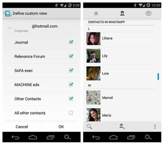 Пользовательские профили контактов AndroidPIT