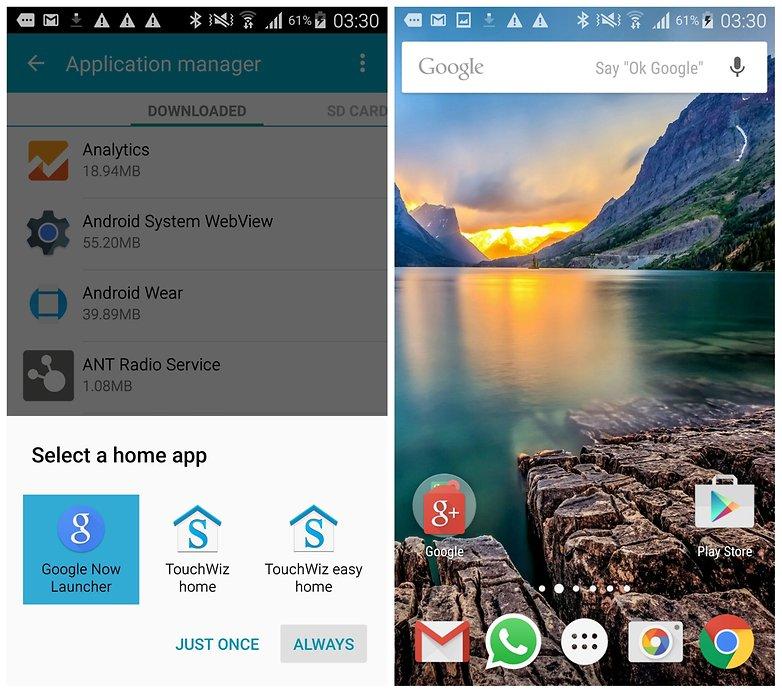 AndroidPIT Galaxy Note 4 по умолчанию лаунчер Google Now