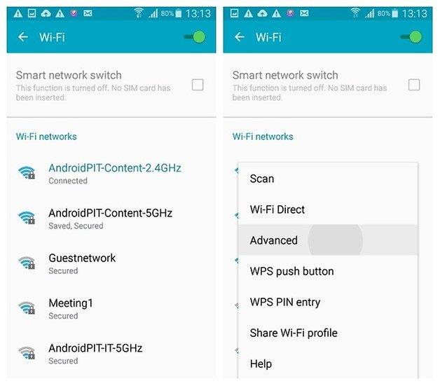 AndroidPIT Galaxy S4 Android 5 0 1 Lollipop Расширенные настройки Wi-Fi