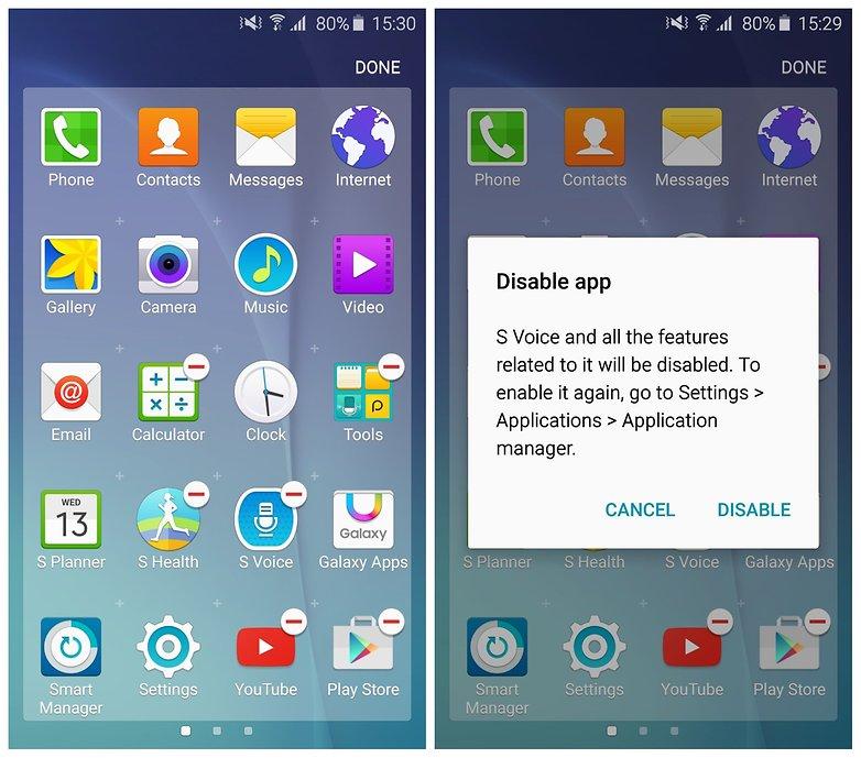 AndroidPIT Galaxy S6 отключить голос