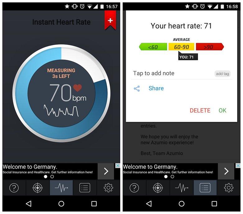 AndroidPIT Instant Heart Rate для измерения пульса