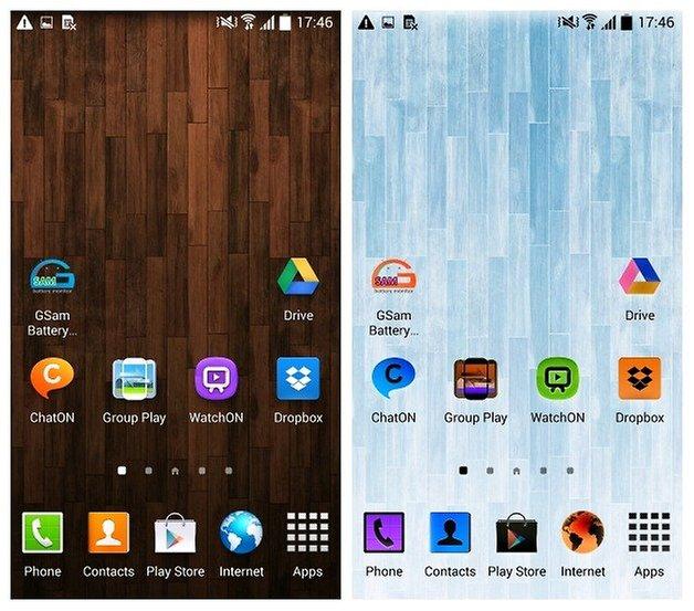 Перевернутый домашний экран AndroidPIT Galaxy S4