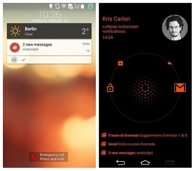 AndroidPIT LG G3 Android 5 0 Lollipop уведомления блокировки экрана