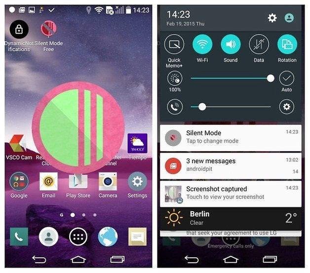 AndroidPIT LG G3 Android 5 0 Lollipop беззвучный режим
