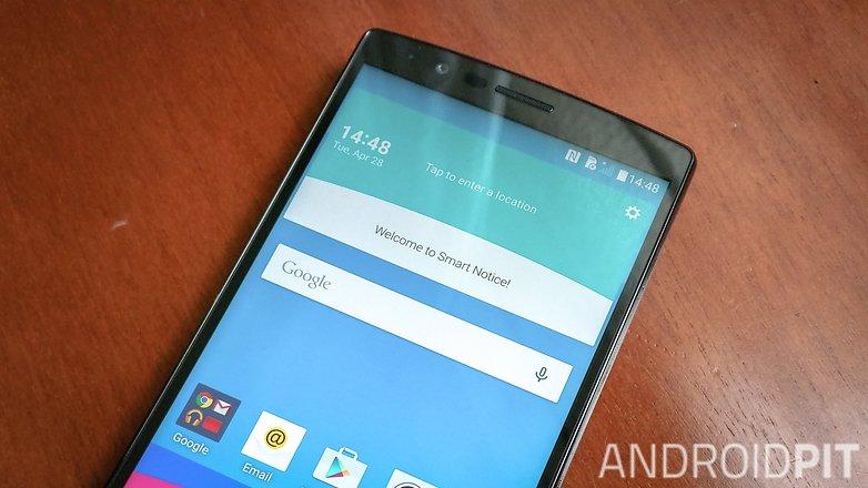 AndroidPIT LG G4 край дисплея