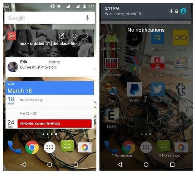 AndroidPIT Moto G 2014 виджеты режима полета с аккумулятором