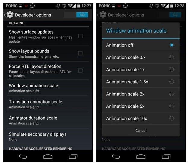 AndroidPIT Moto X Анимация