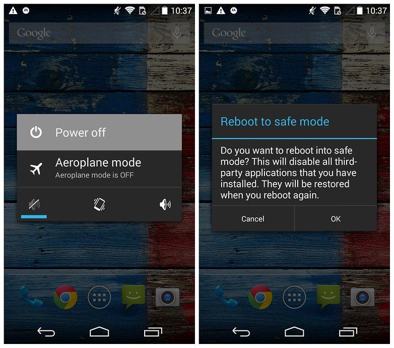 AndroidPIT Moto X проблемы с перезагрузкой в безопасном режиме