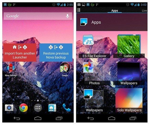 AndroidPIT Nova Launcher Beta Home
