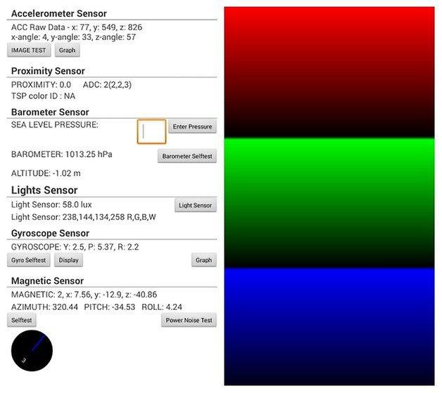 Сервисное меню AndroidPIT S3 1