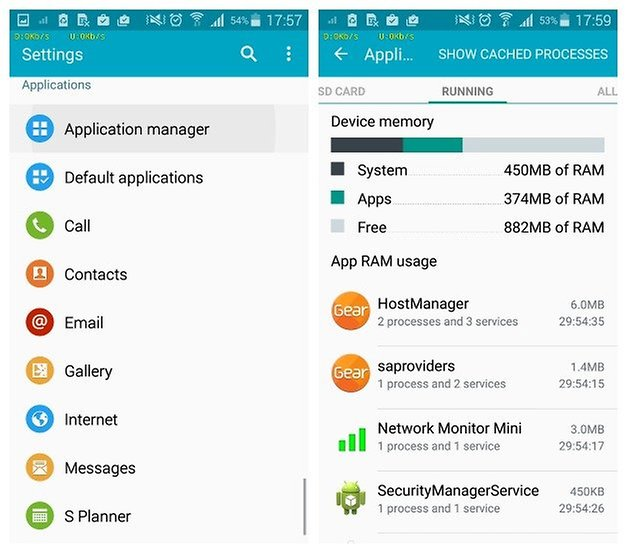 AndroidPIT Диспетчер приложений Samsung Galaxy S5 1