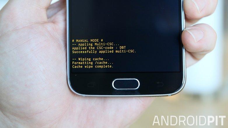 Завершена очистка кеша AndroidPIT Samsung Galaxy S6