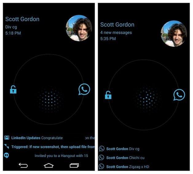 AndroidPIT WhatsApp синий проверяет динамические уведомления
