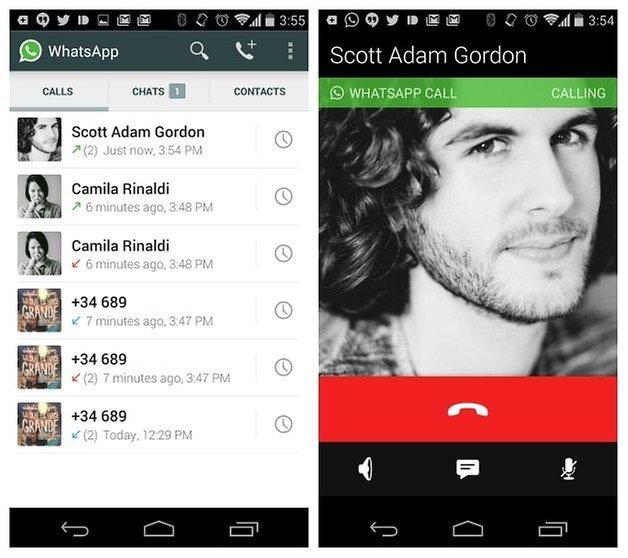 AndroidPIT WhatsApp голосовые вызовы журнал вызовов исходящие