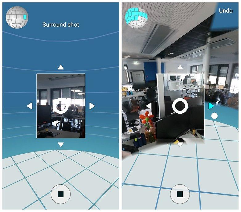 Процесс объемного снимка камеры AndroidPIT Samsung Galaxy S5