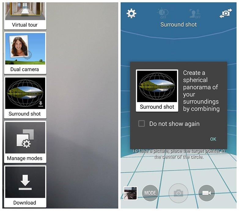 Уведомление об объемном снимке AndroidPIT Samsung Galaxy S5