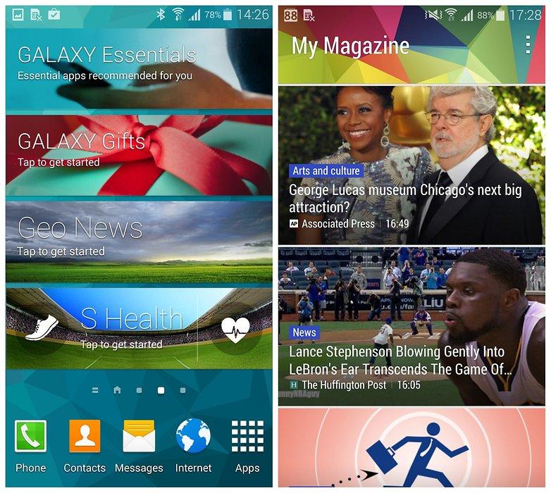 AndroidPIT Samsung Galaxy S5 TouchWiz виджеты мой журнал