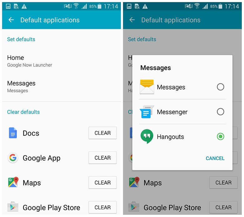 AndroidPIT Galaxy S5 change messenger