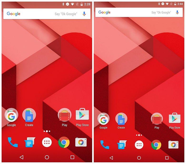 AndroidPIT Nexus 6 DPI изменить главный экран