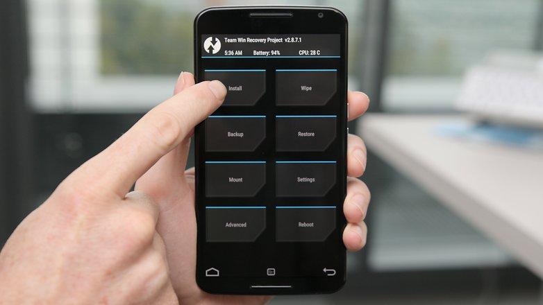 AndroidPIT Nexus 6 TWRP установить