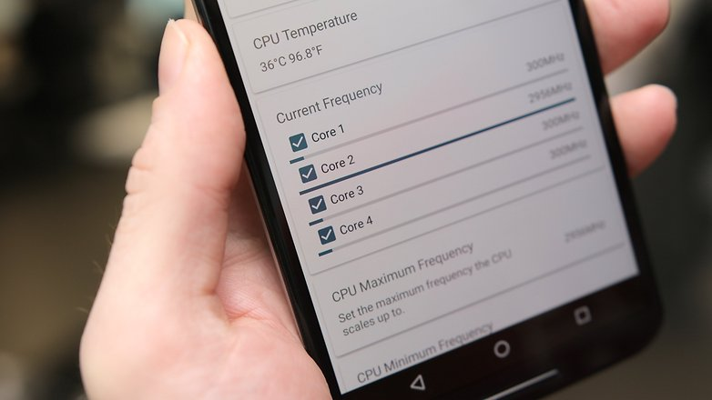 AndroidPIT связывает 6 частот процессора помощника ядра