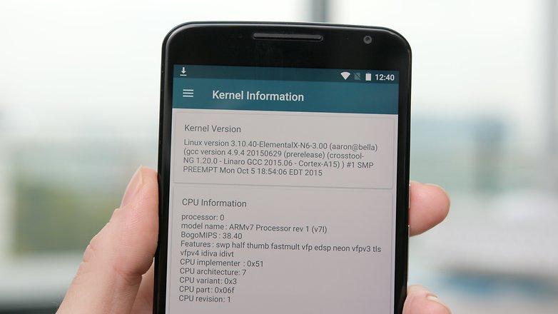Информация о процессоре Nexus 6