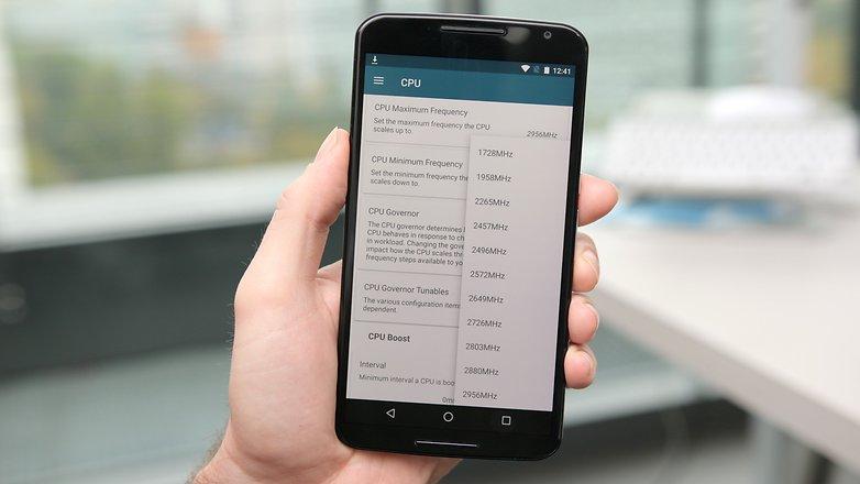 AndroidPIT Nexus 6 kernel adiutor устанавливает тактовую частоту процессора