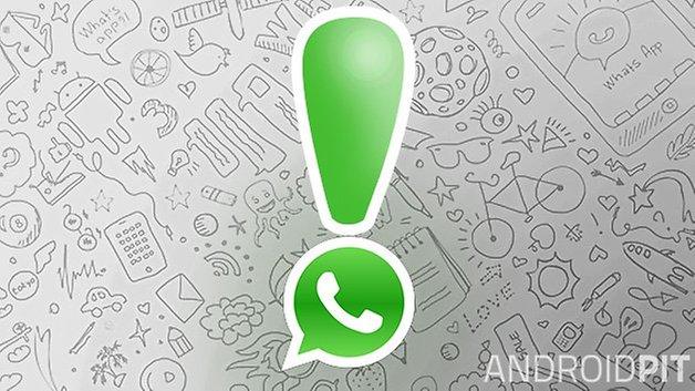 восклицательный знак WhatsApp